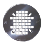 Chrome Shower Pan Drain Plate