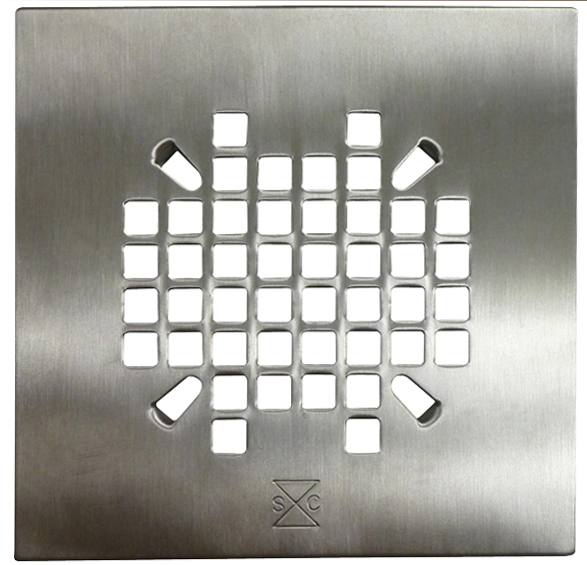 Satin Shower Pan Drain Plate