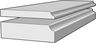 Ogee Edge Thickness Diagram